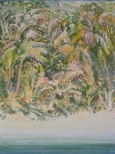 """Wild Palms"" 32x22, acrylic on canvas"