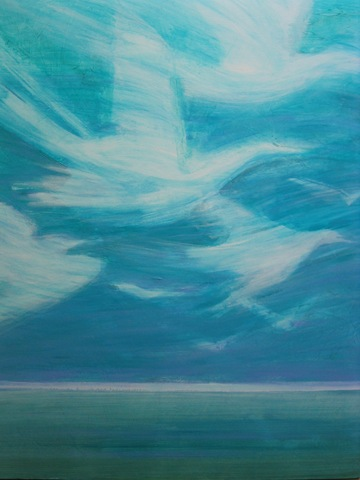 """Above The Peninsula"" 40x30, acrylic on canvas, ©2010Maro Lorimer"