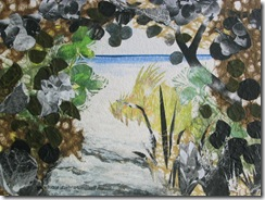 """Beach Path IV"" ©2010 Maro Lorimer 10½ x 13½ inches, collage"