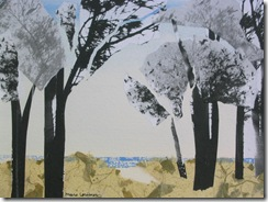 """Beach Path VIII"" ©2010 Maro Lorimer 10½ x 13½ inches, collage"