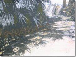 """Beach Path VII"" ©2010 Maro Lorimer 10½ x 13½ inches, collage"