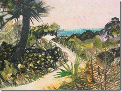 """Beach Path V"" ©2010 Maro Lorimer 10½ x 13½ inches, collage"