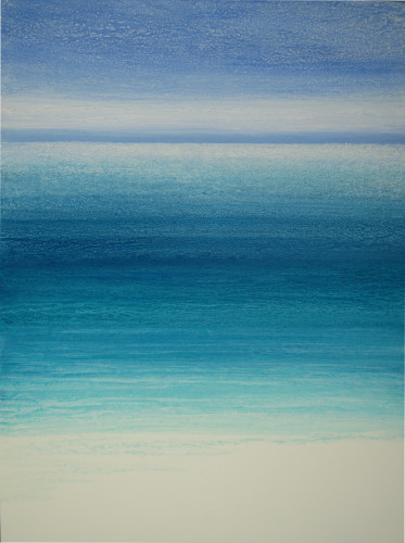 """Beachfront 8"" 40x30, acrylic on canvas"