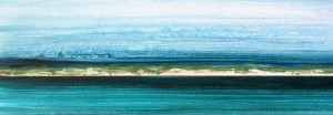 """Coastline 2"" 12x36, acrylic on canvas"