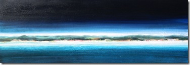 """Coastline 1"" 12x36, acrylic on canvas, ©2010Maro Lorimer"