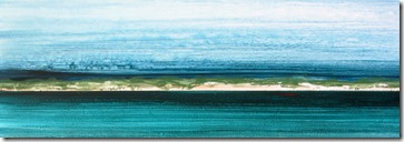"""Coastline 2"" 12x36, acrylic on canvas, ©2010Maro Lorimer"