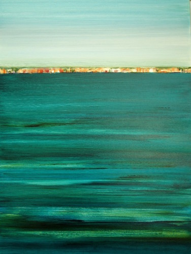 "SOLD ""Deep Turquoise"" 40x30, acrylic on canvas"