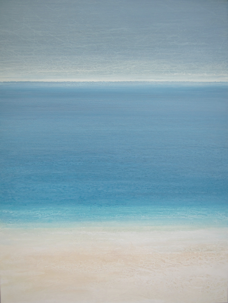 """Essential Beach,"" 48x36, acrylic on canvas"
