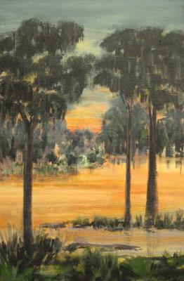 """Evening Glow"" 36 x 24, acrylic on canvas"