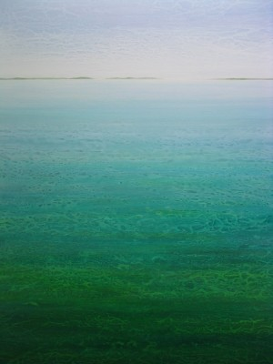 "SOLD ""Lagoon"" 48x36, acrylic on canvas"