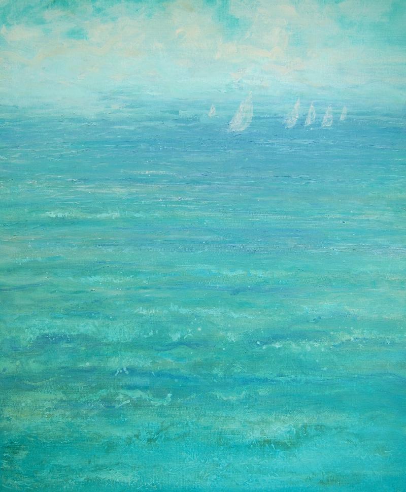 """Fly Like the Wind"" 24x20, acrylic on canvas"