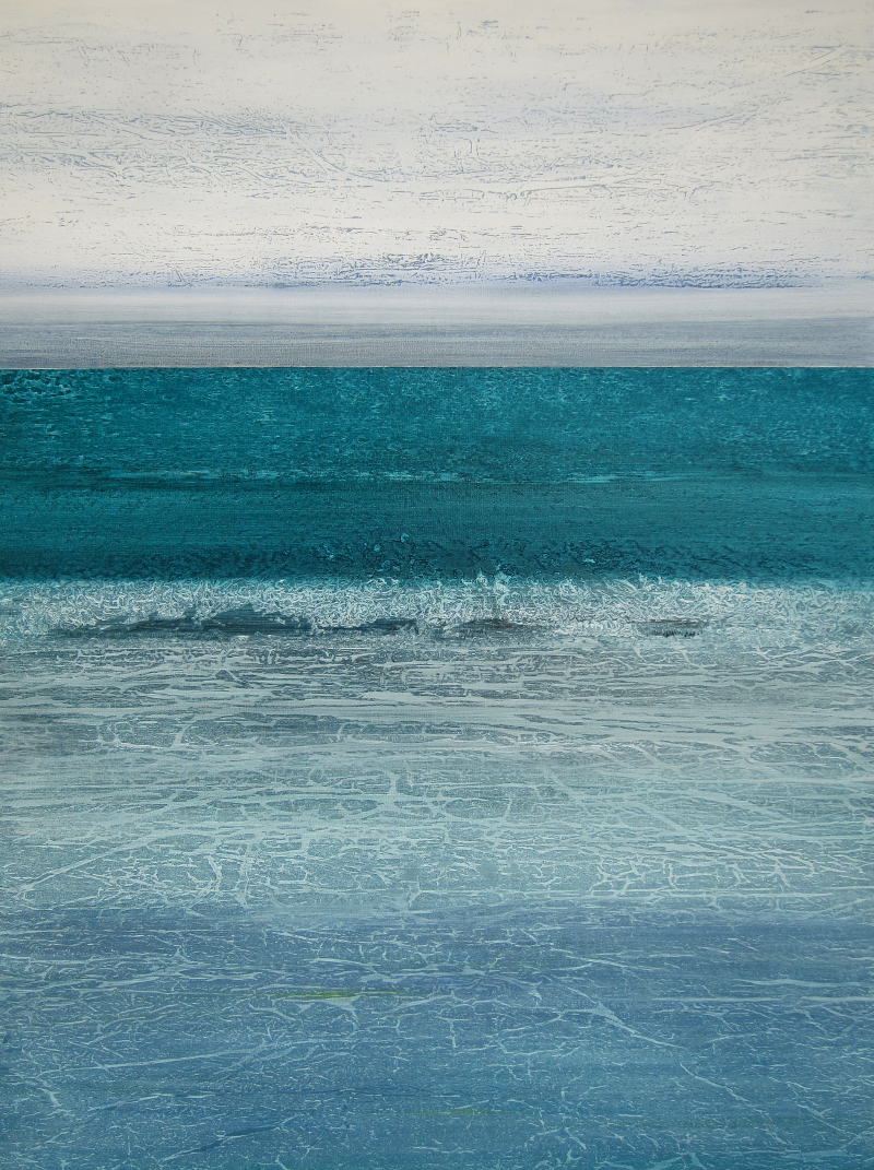 """Jade Sea"" 48x36 acrylic on canvas"