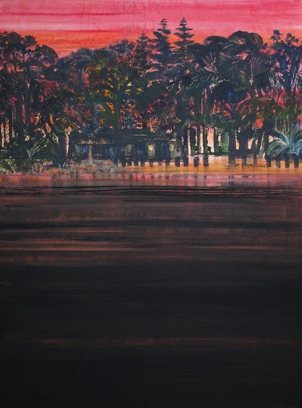 """""""Night On The Beach"""" 40 x 30, acrylic on canvas"""