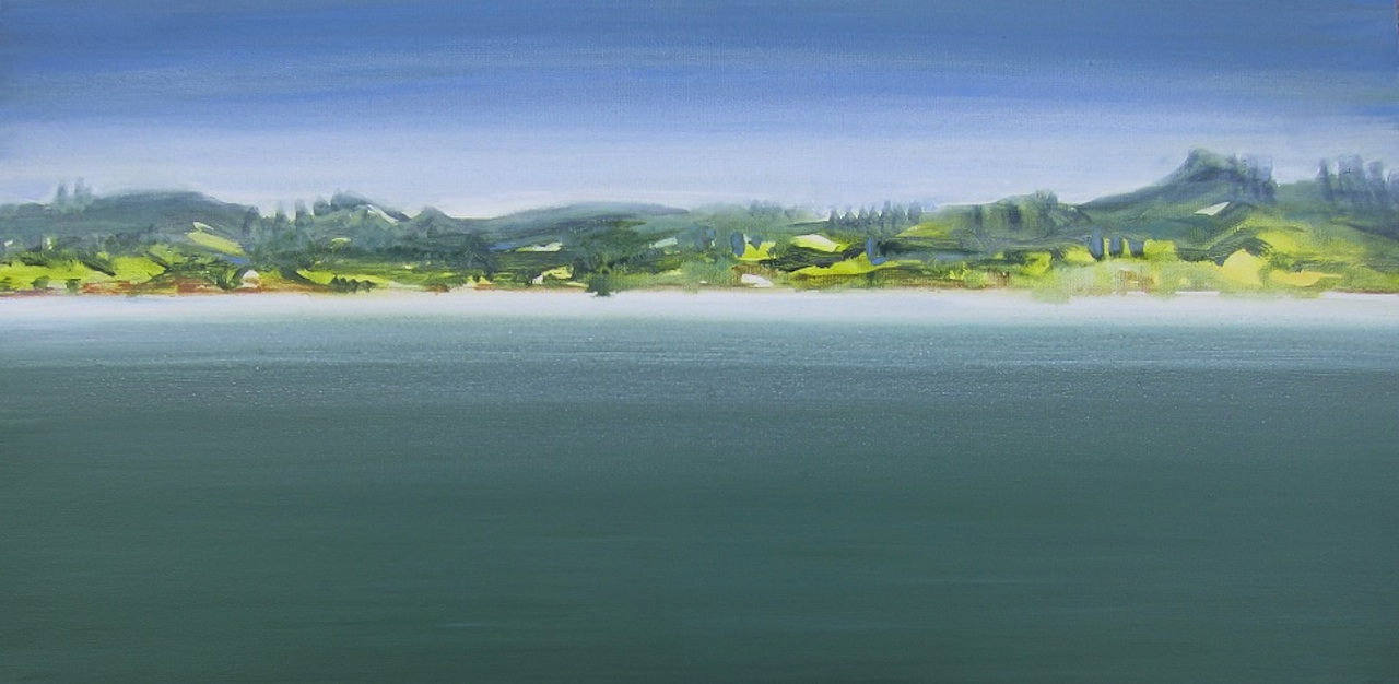 """Northland, New Zealand"" 18 x 36, acrylic on canvas"