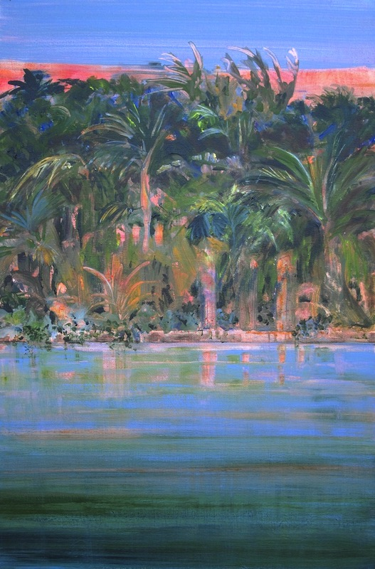 """Old Florida"" 36 x 24, acrylic on canvas"