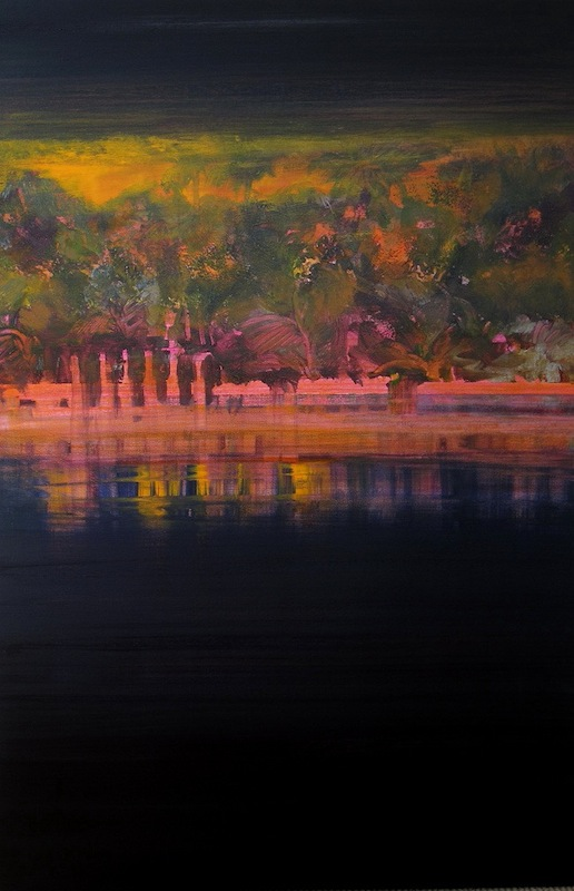 """""""Once Upon a River"""" 36 x 24, acrylic on canvas"""
