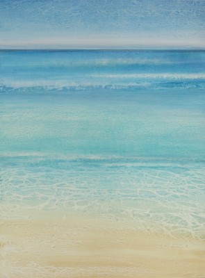 "SOLD ""Tropical Sea"" 48 x 36, acrylic on canvas"
