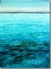 """Turbulence"" 40x30, acrylic on canvas, ©2010Maro Lorimer"