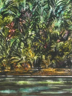 "SOLD ""Wild Night"" 24x18, acrylic on canvas"