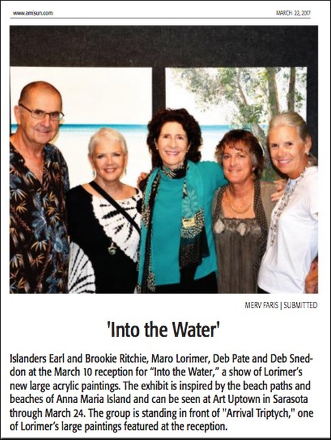 """Into The Water"" exhibition reception"