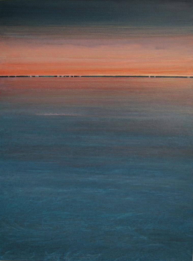 """At Sea At Night"" 48x36 acrylic on canvas"