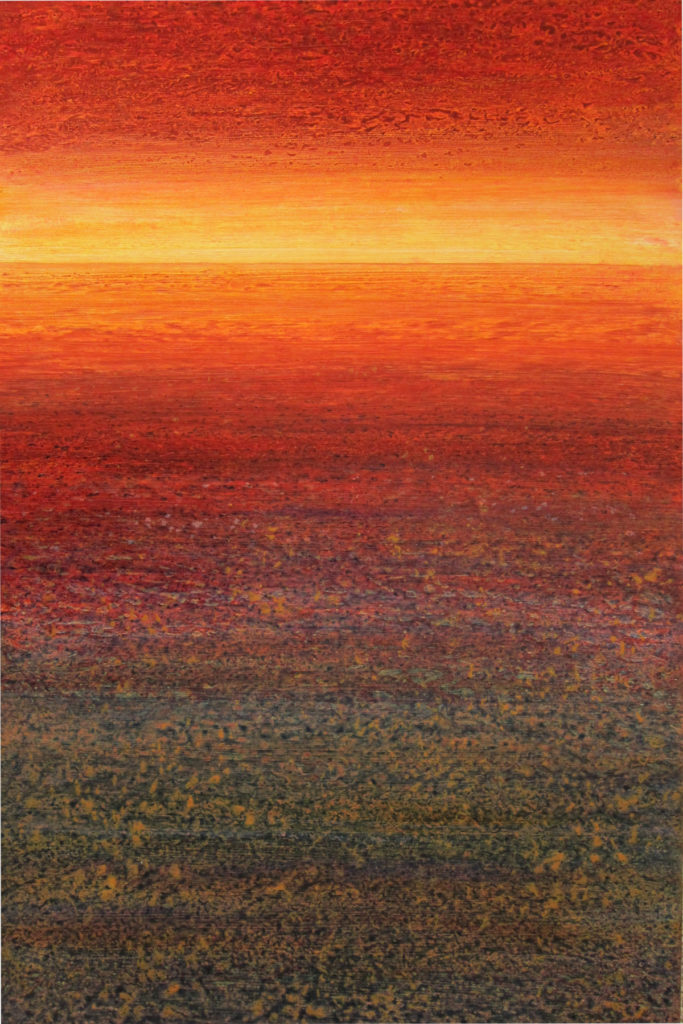 """Maui Sunset"" 36x24 acrylic on canvas"