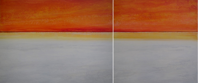 SPACE AND TIME diptych by Maro Lorimer