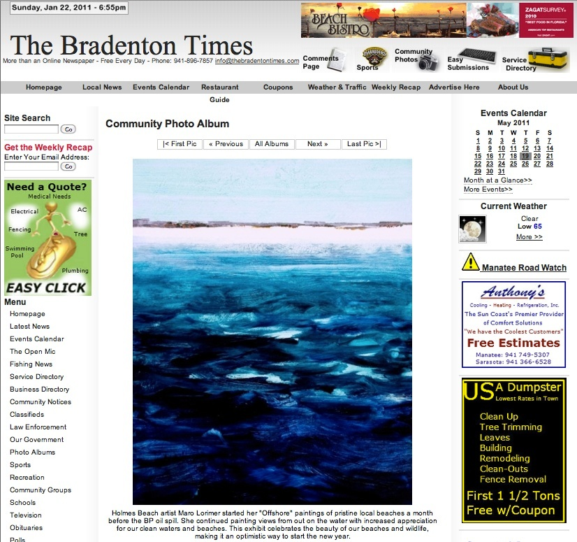 The Bradenton Times - Offshore Art Exhibit
